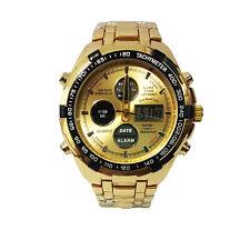 Relojes Hombre Acero Inoxidable Deportivo Reloj Militar Esfera Grande Cronógrafo