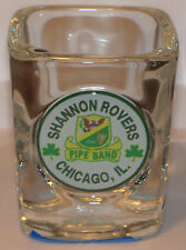 New listing The Shannon Rovers vtg shot glass ~ Chicago famous Irish kilt bagpipe band