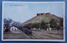 Postcard of Train at Castle Rock, Colorado