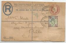 1903 EVII REGISTERED LETTER  SENT TO BALE SWITZERLAND