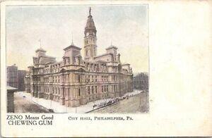 Advertising PC Zeno Chewing Gum Philadelphia PA Street Scene early 1900s
