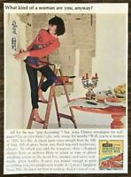 1964 Lawry's Spaghetti Sauce Mix Print Ad What Kind of Woman Are You Anyway?