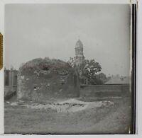 Francia Cattedrale Torre Foto Stereo PL46Th1n3 Placca Da Lente Vintage C1925