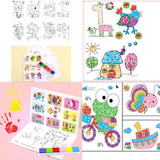 8X Cute Kid Finger Painting Craft Set Child Colorful Fingerpaint Drawing Toy NT