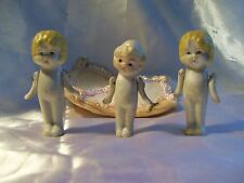 Wire Jointed Arms Bisque Porcelain China Dolls Figurines 3 Japan Flapper