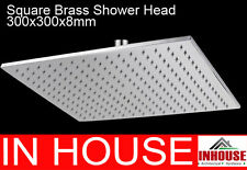 WELS 300mm Square Brass Shower Head