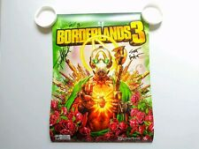 E3 2019 Borderlands 3 Psycho signed poster by Developers Rare HTF