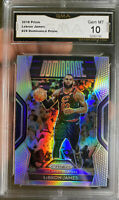 2018 PANINI PRIZM Silver LEBRON JAMES  10 GEM MINT Hall Of Fame Refractor
