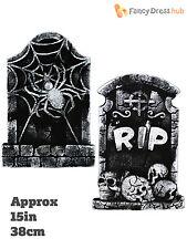 Halloween rip spider pierre tombale parti prop décoration hanté cimetière tombes