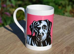 Labrador (Black) porcelain single mug