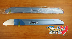 2017-2021 Jeep Compass Stainless Front Door Set of Sill Guards Mopar OEM