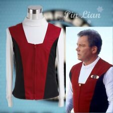 Star Trek Kirk Ribbed Shirt and Red Black Vest Set Cosplay Costume Halloween