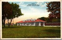 Postcard Railroad Train Station Depot in French Lick, Indiana Pluto Water~137896