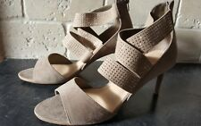M&S Insolia Size 8 / EU 42 taupe faux suede Heeled Sandals - New