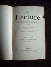 La lecture -  Magazine littéraire bi-mensuel - T.2