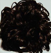 LACEY 3-inch Pony Fastener Hair Scrunchie - 4 Dark Brown