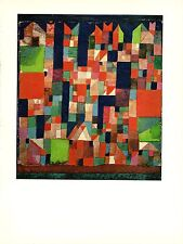 """1967 Vintage PAUL KLEE """"CITY PICTURE RED & GREEN ACCENTS COLOR offset Lithograph"""