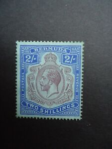 1927 BERMUDA 2/- purple and bright blue MH mounted mint with traces of gum SG88