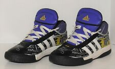 RARE Adidas FULTON Los Angles Pruple, Gold, Black, Basketball Shoe size 6.5