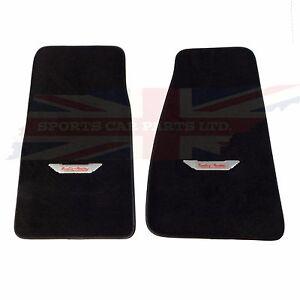 New Set of Plush Carpet Floor Mats Austin Healey 3000 BJ7 BJ8  Embroidered Logo
