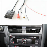 Car 2 RCABluetooth Wireless Adapter AUX Music Cable Change Song w/ Microphone