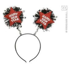 Red Happy New Year Head Boppers Celebration Party Fancy Dress Accessory