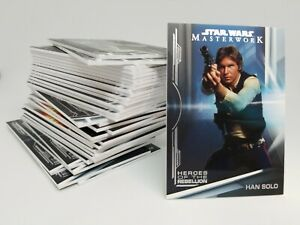 2019 Topps STAR WARS MASTERWORK Insert Singles You Pick & Complete Your Set