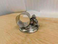 Victorian Meriden Silverplate Napkin Ring Cherub/Angel 219