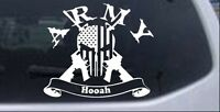 ARMY Hooah Punisher Skull US Flag AR15 Guns Car or Truck Window Decal Sticker