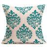 Geometric Vintage Floral Linen Cotton Pillow Case Cushion Cover Home Sofa Decor