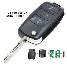 Remote Car Key 3 Button 434MHz ID48 for VW Volkswagen Skoda Seat 1J0 959 753 DA