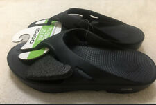 Oofos Original Recovery Black Unisex Sandals - NEW - US Men 9 Women 11