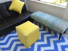 New Outdoor Psychedelia Regatta Blue and White Plastic Rug ( 4 x 6, 120 x 180)