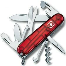 🌟🌟🌟 1.3703.T Victorinox Swiss Army Pocket Knife CLIMBER RED TRANSLUCENT