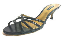 DOLCE & GABBANA WOMENS SANDALS US 7/EU 37 M Black Leather strappy solid with Box