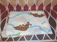 Scooby Doo Mystery Machine Van TWIN FLAT Sheet EXCELLENT Dan River