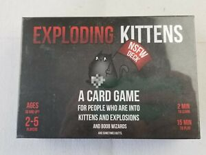Exploding Kittens Deck A Card Game  NEW sealed NSFW deck