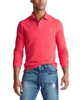Polo Ralph Lauren Men's Classic Fit Long Sleeve Polo Shirt Red, Size M, $100 NwT