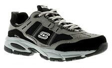 Hombre / Negro Hombre Skechers Vigor con Cordones Zapatillas Talla UK