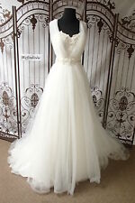 W8 PRIVATE LABEL DESIGNER 3248A SZ 10 IVORY $1599 BEADED WEDDING DRESS GOWN