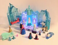 Disney Frozen Light Up Elsa Ice Castle Palace Play Set + Magiclip Dolls & More