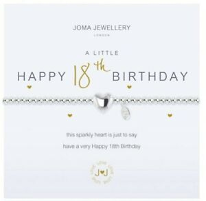 Joma Jewellery Bracelet- Happy 18th Birthday