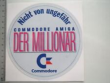 Aufkleber Sticker Commodore - Amiga - Der Millionär - Kult Amiga 500 C64 (M1578)