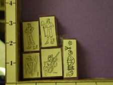 disney Pocahontas set of 5 #2 foam rubber stamps 30s