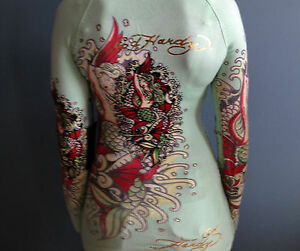 NWT Ed Hardy By Christian Audigier Hooded Sweater/Tunic Size Small