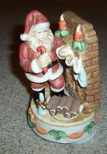 SANTA CLAUS IS COMING TO TOWN MUSIC BOX PORCELAIN PRICE PRODUCTS