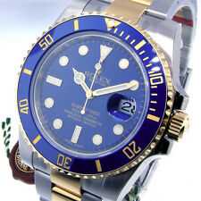 ROLEX SUBMARINER 116613 TWO TONE BLUE DIAL CERAMIC BEZEL 116613