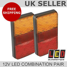 Pair of Fully Submersible Boat Trailer Rear 12v LED Lights *LIFETIME WARRANTY*