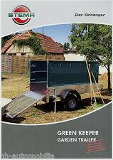 Prospekt Stema Anhänger Green Keeper 8 10 2010 Broschüre brochure garden trailer