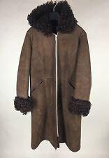 Antartex Hooded Coat Lambskin Made in Scotland Women's Small